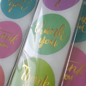 """NEW 200 Thank You Stickers 1.5"""" (8 NEW DESIGNS)"""